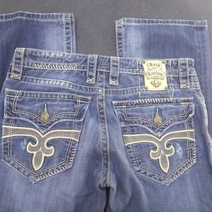 Rock Revival 34 x 30 Ronnie Bootcut Jeans